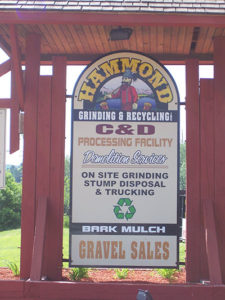 Hammond Grinding Sign